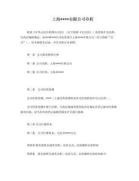 上海公司章程.doc