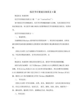 综艺节目策划方案范文3篇.doc