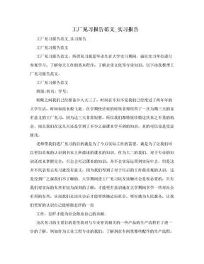 工廠見習報告范文_實習報告.doc