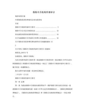 保险中介机构外部审计.doc