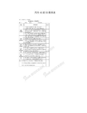 汽车4S店5S检查表.doc
