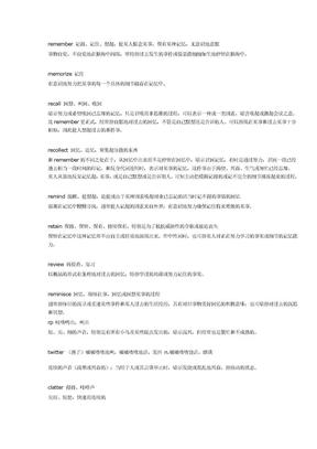 专业英语八级词汇辨析.doc