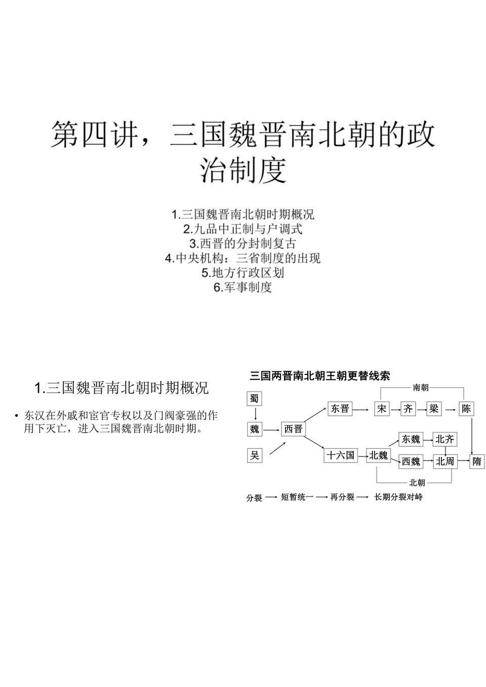 4,三国魏晋南北朝的政治制度.ppt