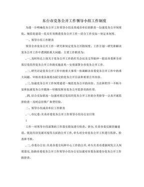 东台市党务公开工作领导小组工作制度.doc