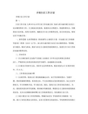 乡镇扫盲工作计划.doc