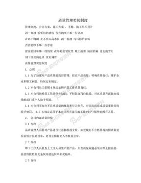 质量管理奖惩制度.doc