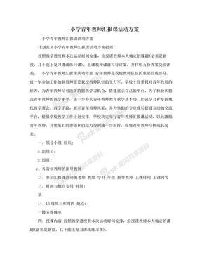 小学青年教师汇报课活动方案.doc