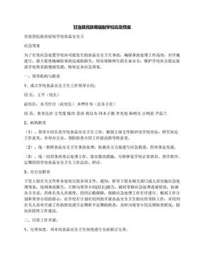 甘洛县民族寄宿制学校应急预案.docx