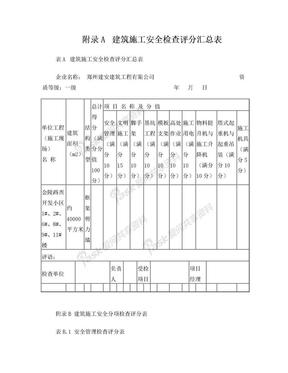 《建筑施工安全检查标准》JGJ59-2011附录(检查评分表).doc