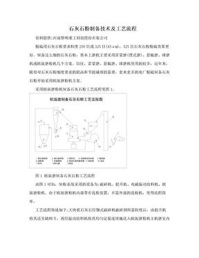 石灰石粉制备技术及工艺流程.doc