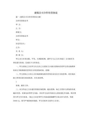 建筑公司合作经营协议.doc