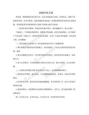 招商宣传方案.doc