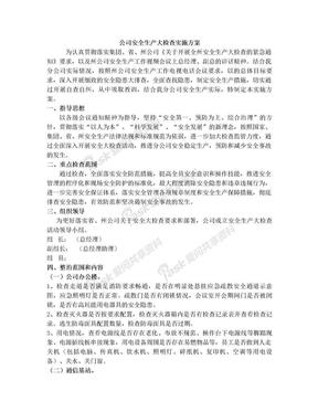 公司安全生产大检查实施方案.doc