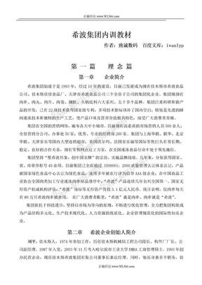 希波集团内训教材-高层管理手册.doc