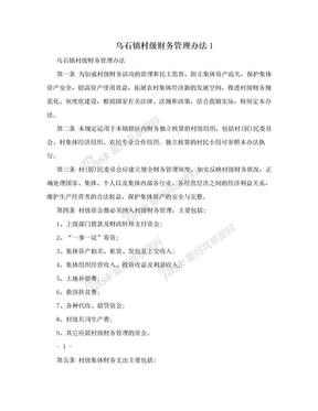 乌石镇村级财务管理办法1.doc