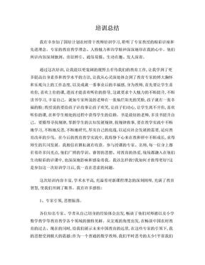 河北省农村中小学骨干教师培训总结.doc