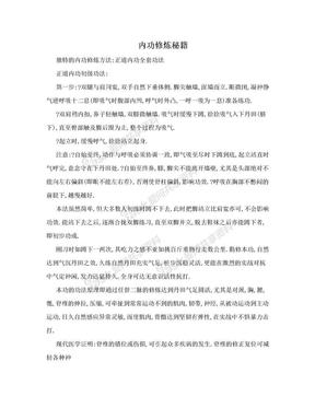 内功修炼秘籍.doc