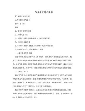 气象报文用户手册.doc