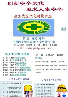 企业安全文化建设专题讲座PPT课件_20110615_罗云.ppt
