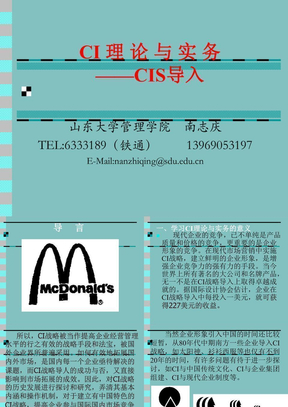 CI理论与实务-CIS导入.ppt