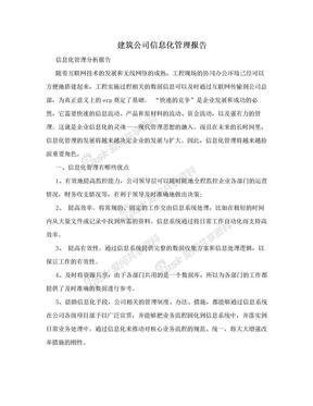 建筑公司信息化管理报告.doc