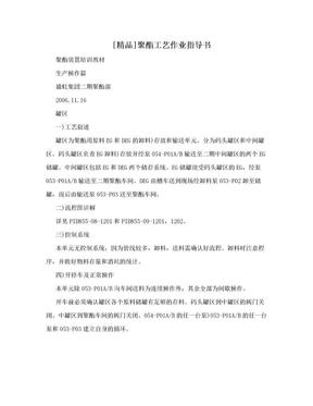 [精品]聚酯工艺作业指导书.doc