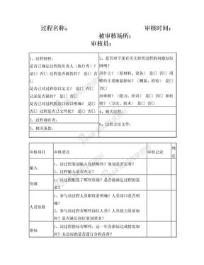 IATF16949过程审核检查表模版.doc