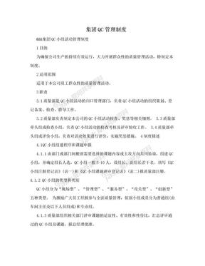 集团QC管理制度.doc