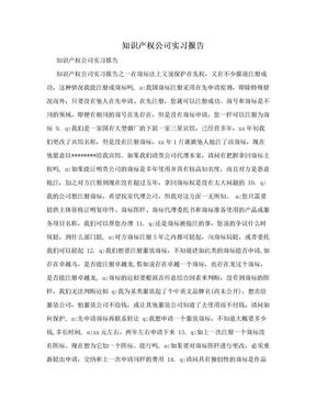 知识产权公司实习报告.doc