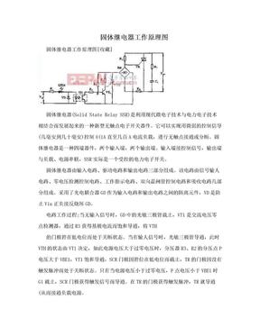 固体继电器工作原理图.doc