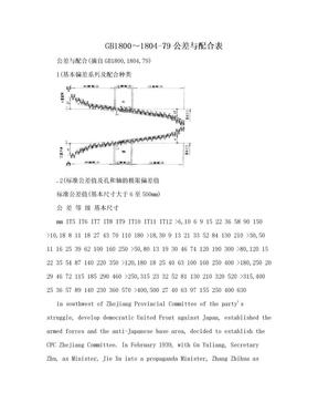 GB1800~1804-79公差与配合表.doc