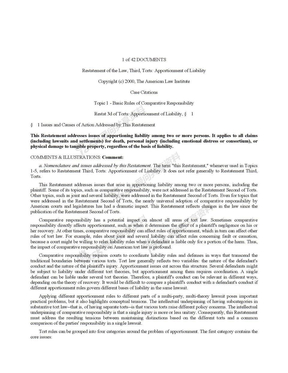 Restatement 3d, Torts( Apportionment of Liability  Rule Sections).doc