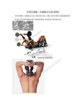 介绍几种肱三头肌演习方法[资料].doc
