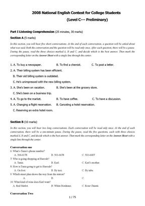 2008-2011全国大学生英语竞赛c类真题及答案.doc