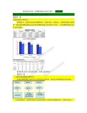 财务比率分析(短期偿债能力比率分析).doc