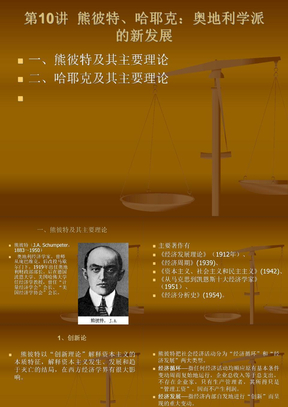 北京大学经济思想史第10讲_熊彼特、哈耶克.ppt