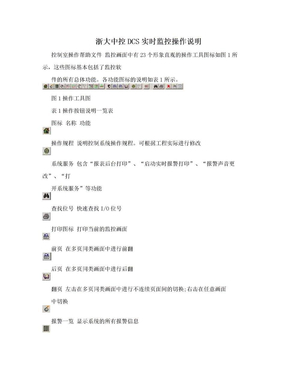 浙大中控DCS实时监控操作说明.doc