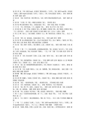 易错繁体字.docx