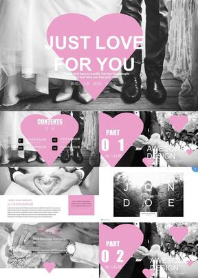 高端大气高端大气婚礼相册PPT模板14