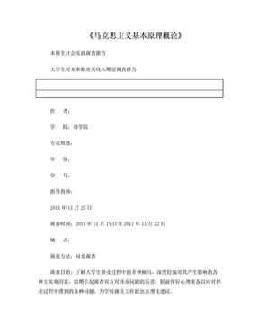 大学生对未来职业及收入期望调查报告.doc