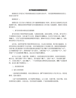 关于精准扶贫调研报告范文.docx