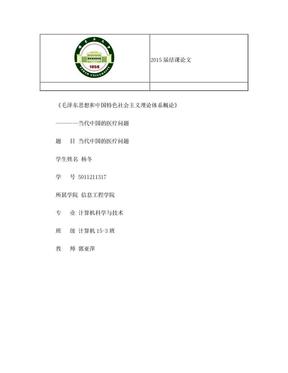 民生问题-医疗问题.doc