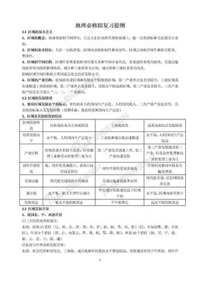 湘教版高中地理必修3复习提纲.doc