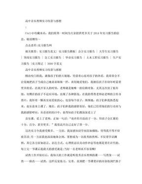高中音乐教师实习收获与感想.doc