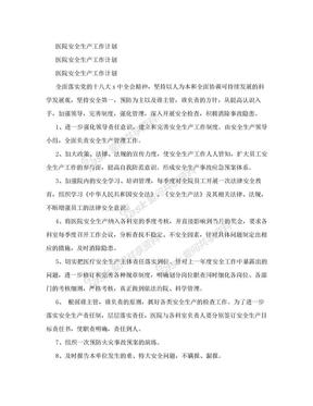 医院安全生产工作计划.doc