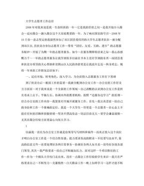 大学生志愿者工作总结.doc