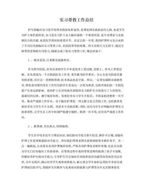实习带教工作总结.doc