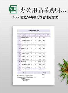 办公用品采购明细表.xls