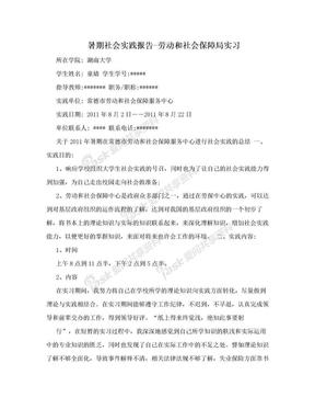 暑期社会实践报告-劳动和社会保障局实习.doc