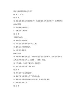 基层党支部换届改选工作程序.doc